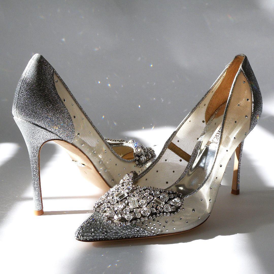 These Badgley Mischka Silver Shoes Define Sparkling Shoes Glam Shoes Wedding Shoes Evening Shoes Serious Sparkle Heels Mischka Heels Silver Shoes