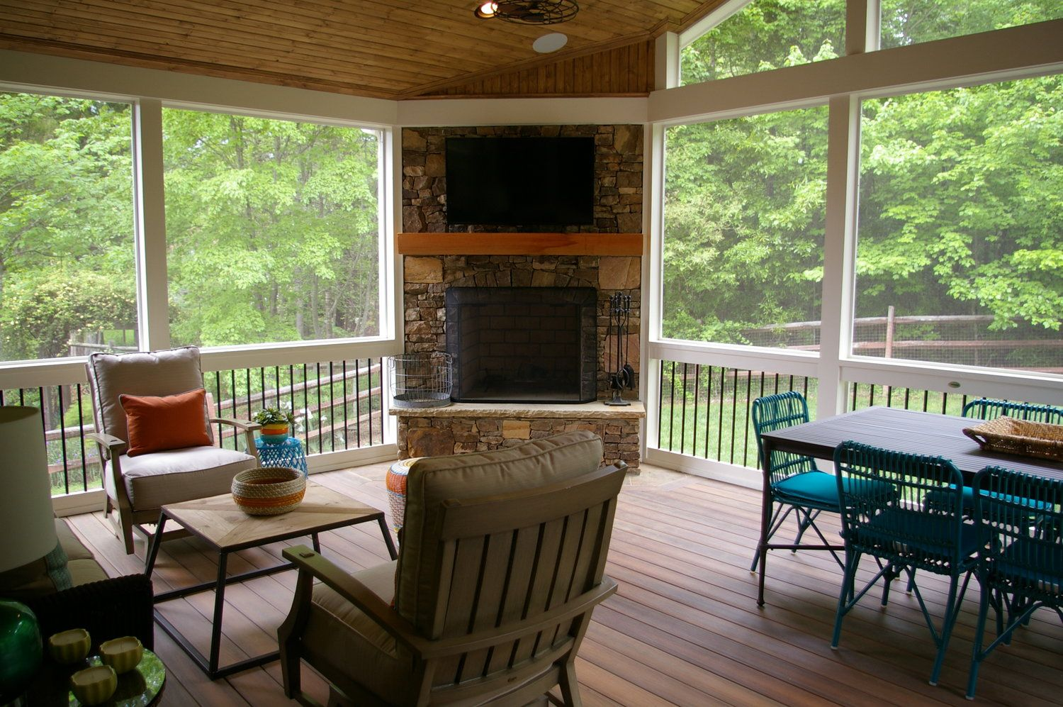 Projects Deckscapes In 2020 Corner Fireplace Patio Deck Designs Deck Fireplace