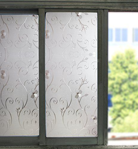 Privacy Frosted Window /& Door  Film Decorative Etched Glass Self Adhesive Vinyl