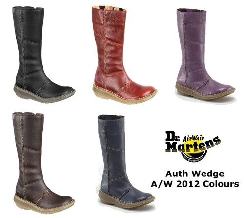 Dr Martens New Season Authentic Wedge Zip Calf Boots on