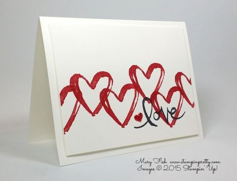 Simple  pretty love and anniversary card using Stampin Up