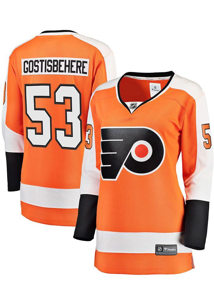 low priced a4a87 94181 Shayne Gostisbehere Philadelphia Flyers Womens Orange ...