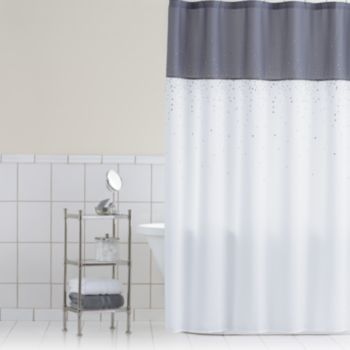 Home Classics Sparkle Fabric Shower Curtain | Kohls | on sale $24 ...