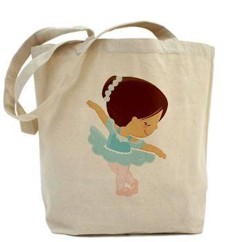 Ballerina Girl2 Tote Bag £12