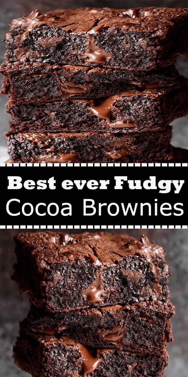 Best ever Fudgy Cocoa Brownies