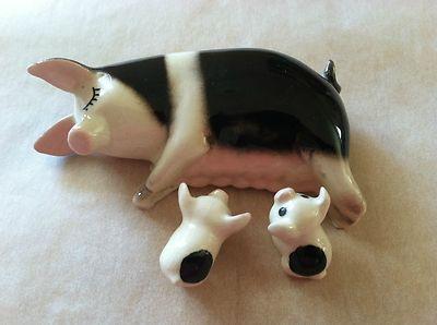 Hagen Renaker Miniature Pigs Miniature Pigs Miniatures Ceramic Animals