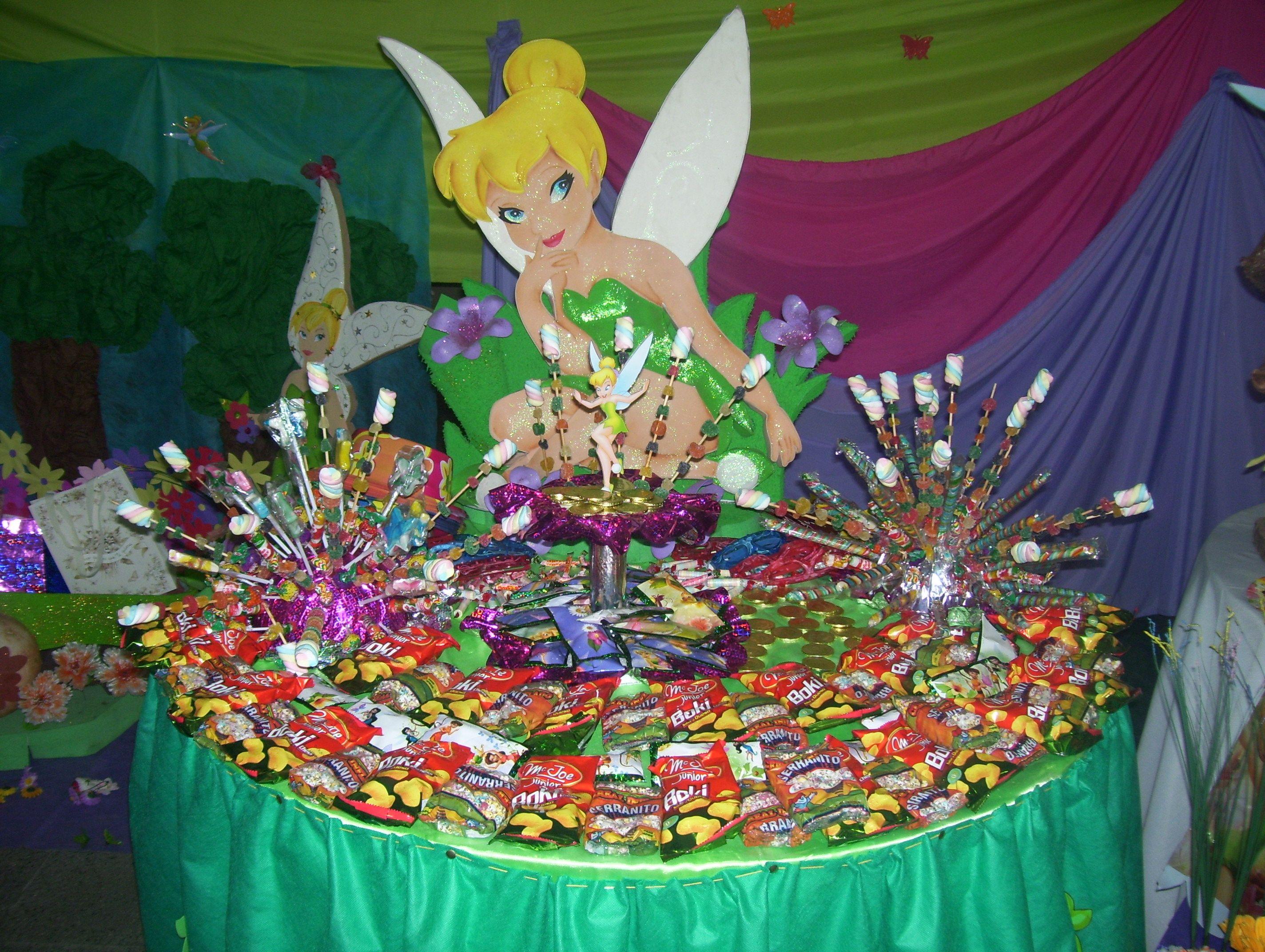Mesa de dulces de campanita - Imagui | Fiesta Tinkerbell ...
