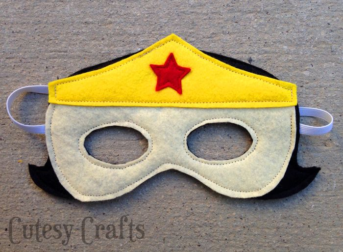 Girl Felt Superhero Mask Templates | Pinterest