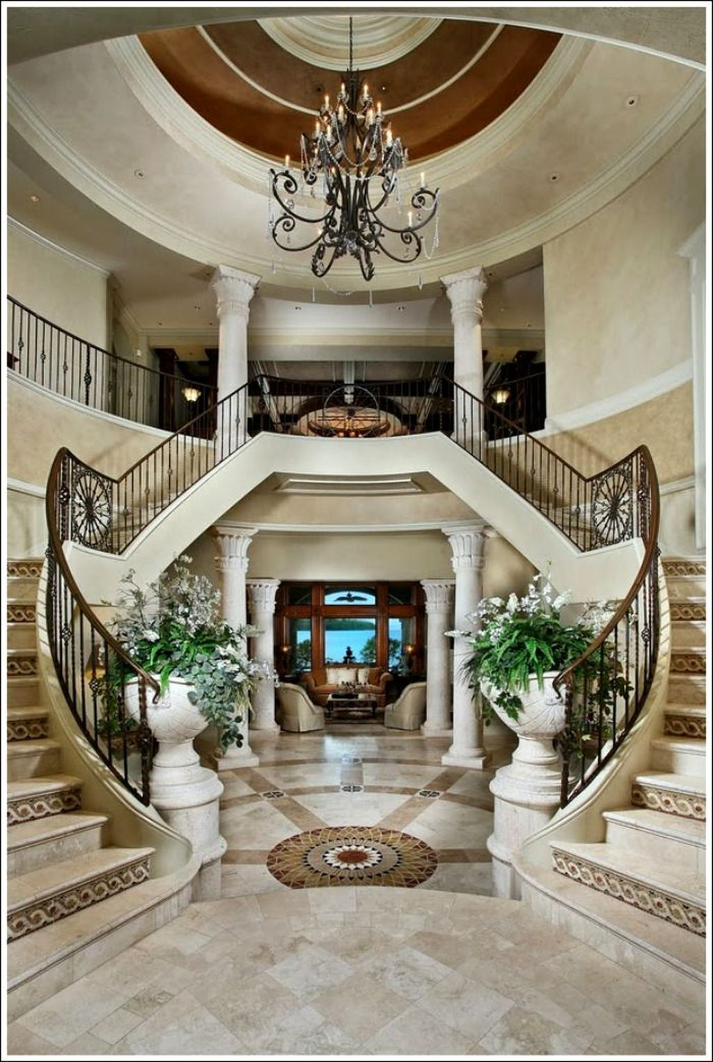 25+ Classic And Beautiful Double Sided Staircase Design ...