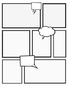 comic strip template illustrator  Image result for illustrator template graphic novel | Comic ...