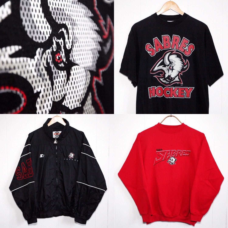 Fresh Vintage 90s Sabres Gear In The Shop Today Vintage Sportswear Sportswear Nike Jacket [ 1500 x 1500 Pixel ]