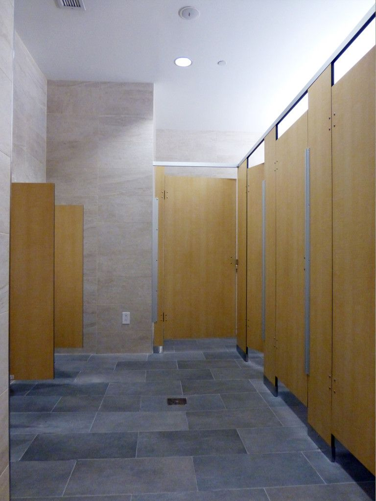 Bathroom Stalls Revit male toilet partitions with special 100mm leg in a timber grain