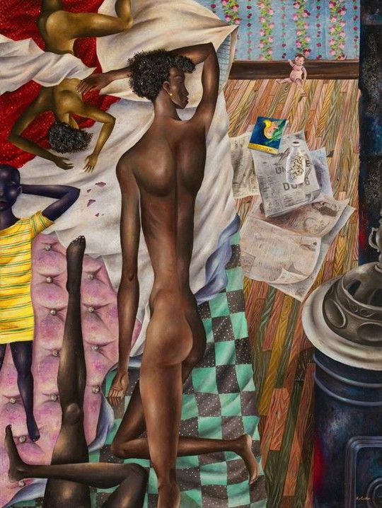 Eldzier Cortor-  The Room No. VI
