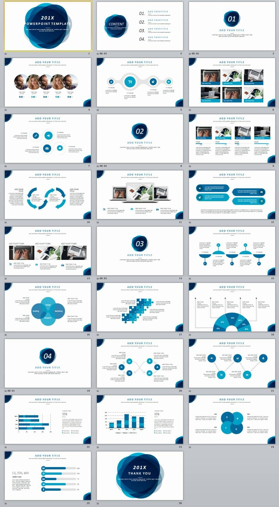 Company Annual Report Chart Powerpoint Template Powerpoint