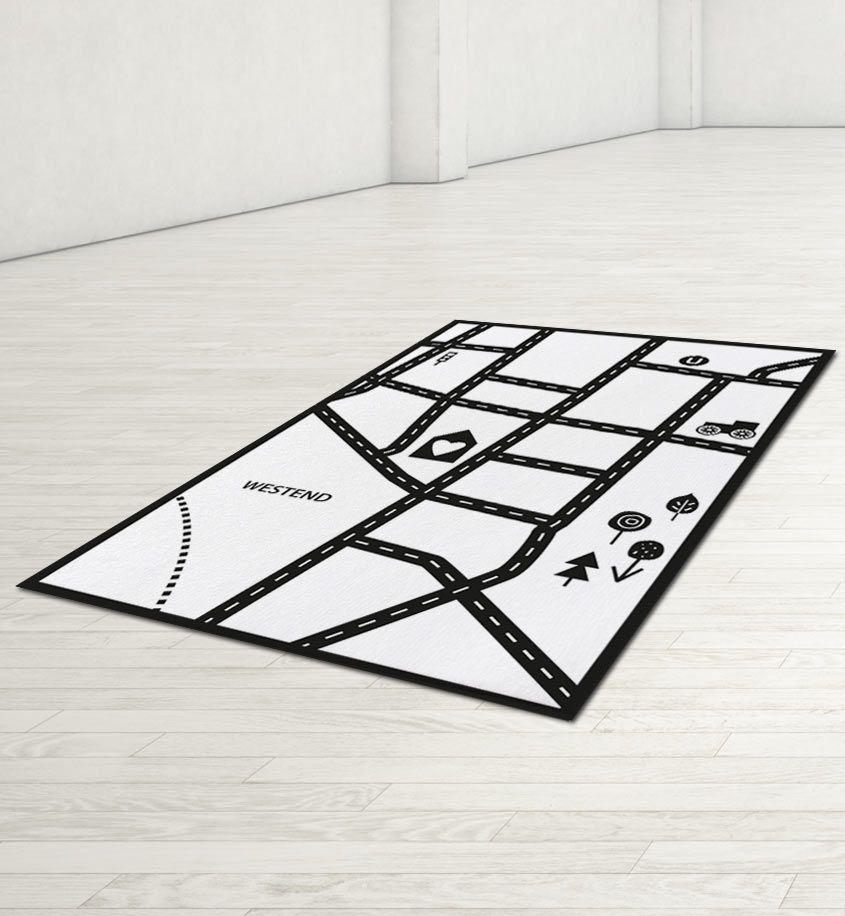 Teppich Idee U201eMeine Straßeu201c U2013 Bodenschätzchen I Individuelle Kinderteppiche Selbst  Gestalten