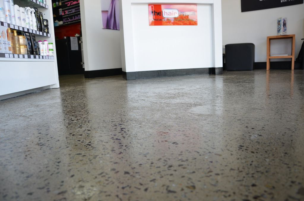 Salon Grind And Seal Polished Concrete Polished Concrete Polished Concrete Flooring Concrete Floors