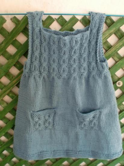 Vestido a dos agujas | punto | Pinterest | Bebe