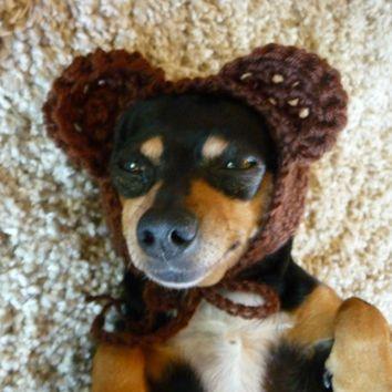 Bear Dog Hat CROCHET PATTERN Crochet Dog Hat Pattern Crochet Dog Costume  Pattern… 242ef8f4179