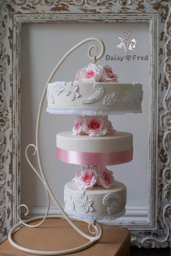 Hanging Upside Down Wedding Cake