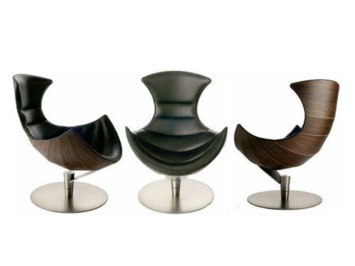 Retro Moderne Sessel Designs Leder Schön