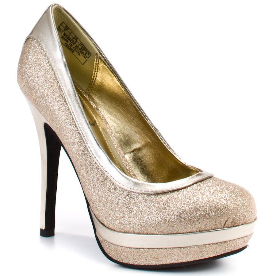 Chance - Gold Glitter, Baby Phat: I just bought this same pair of heels for 15 dollars at Plato's closet! they are soooo pretty!
