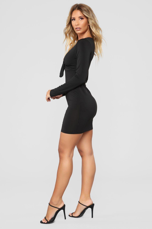 Mykayla Tie Front Mini Dress Black Mini Black Dress Mini Dress Outfits Mini Dress [ 1500 x 1000 Pixel ]