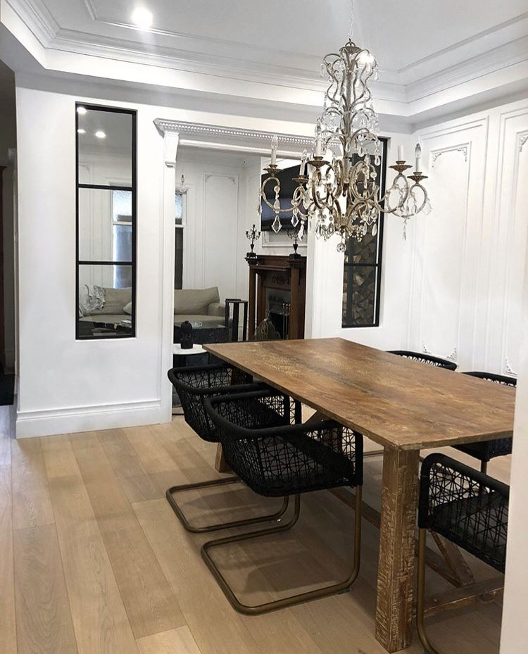 Love Mixing Modern Chairs With Vintage Antique Tables And Vice