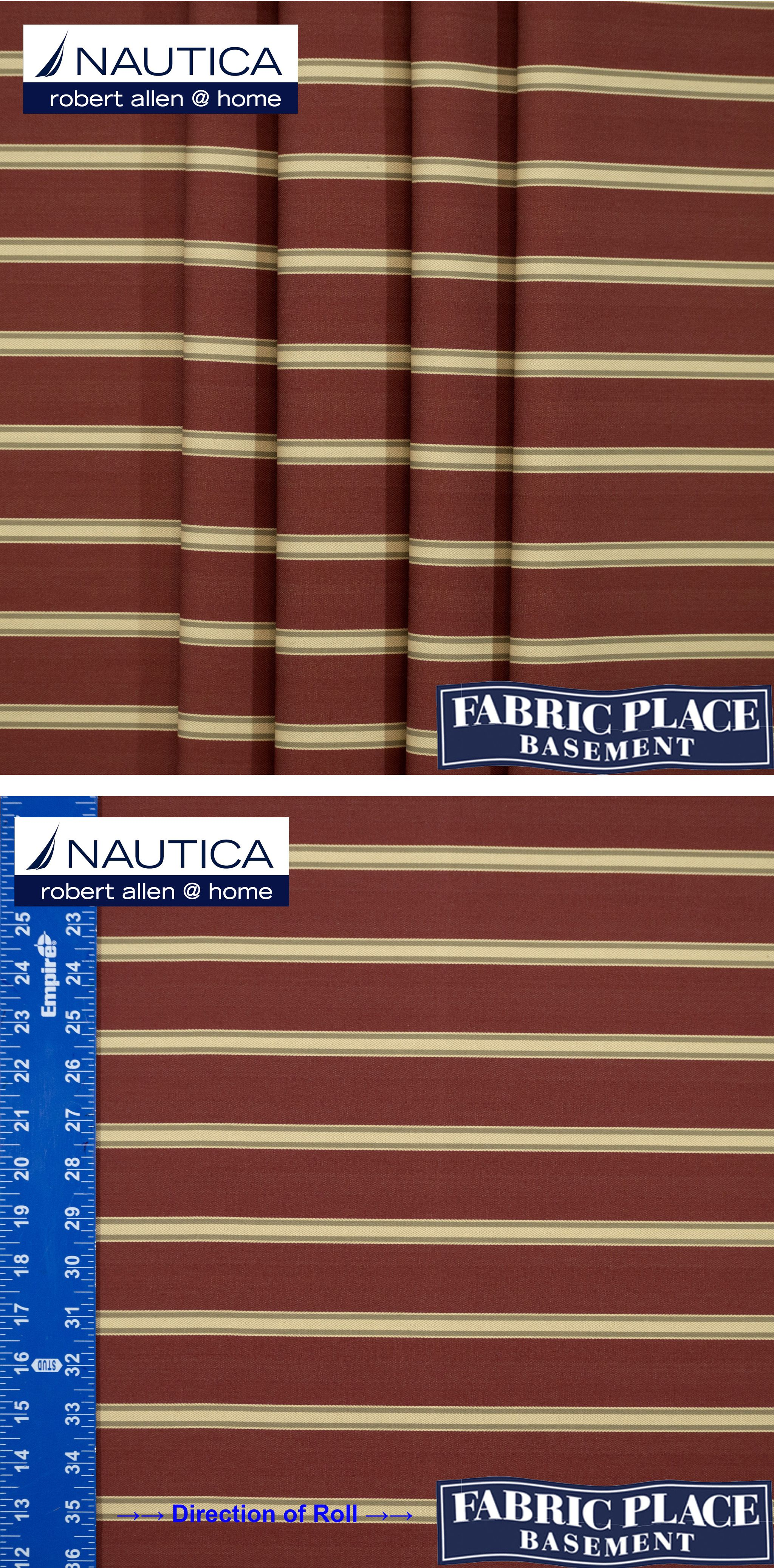 Garten 24 Online Marine Stripe Rosewood Order Yards Of This And Other Fabrics
