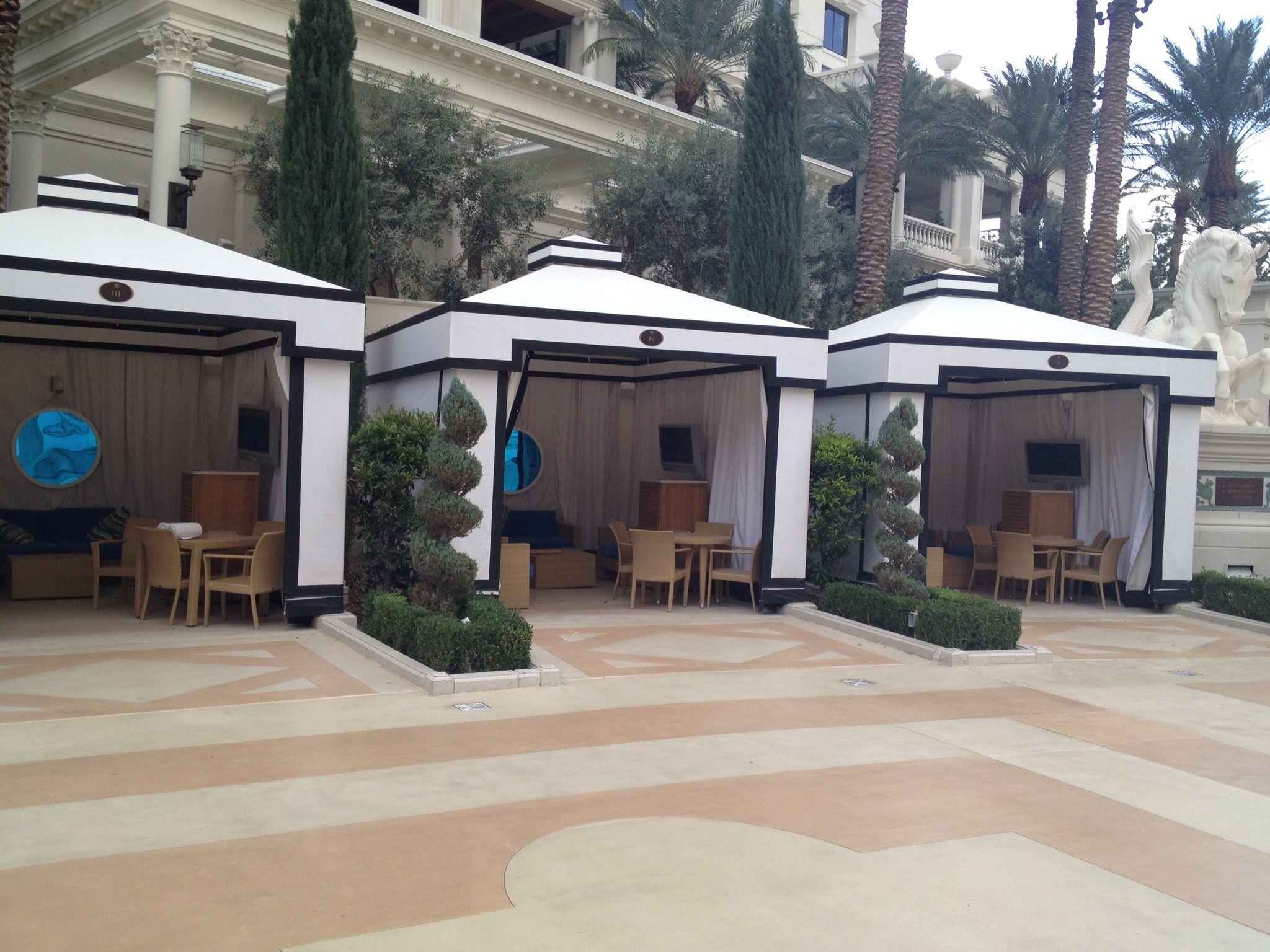 Caesars Palace Pool Cabanas