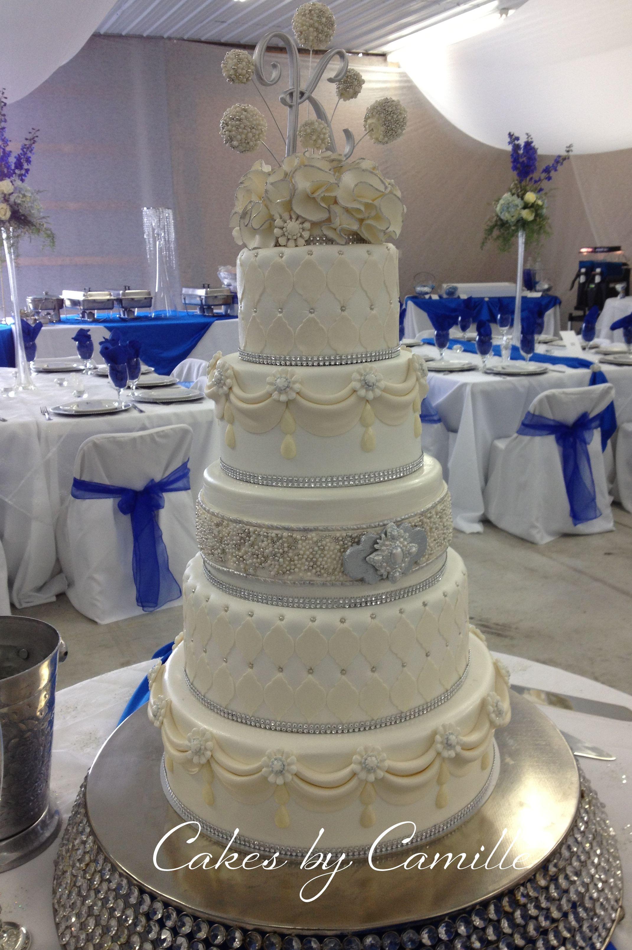 Blinged out crystal wedding cake Marina Sousa inspired
