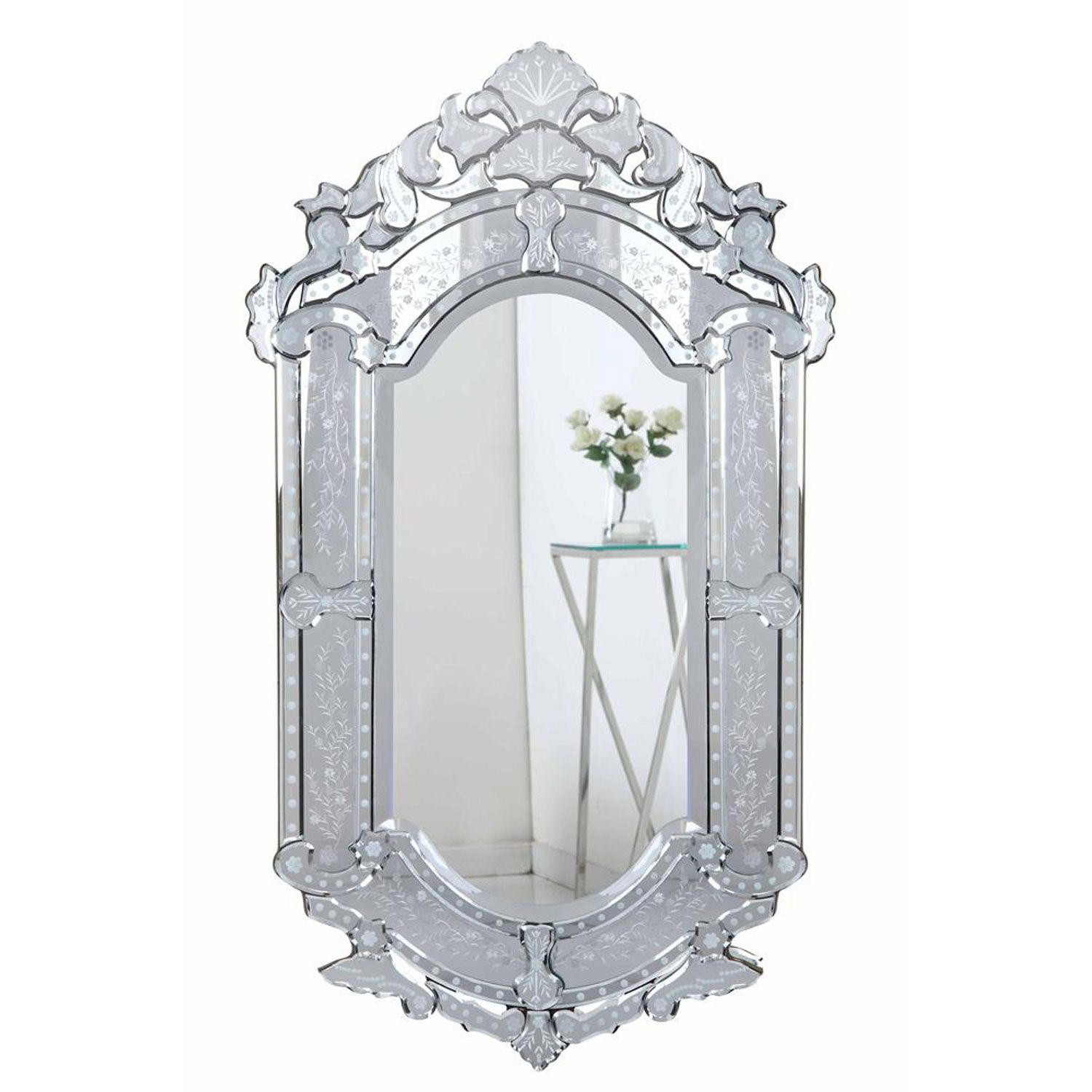 Venetian Clear 28 Inch Mirror Elegant Lighting Arched ...