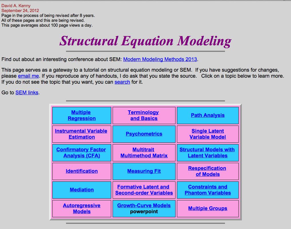 Structural Equation Modeling David A Kenny Structural Equation Modeling Psychological Testing Psychology Studies