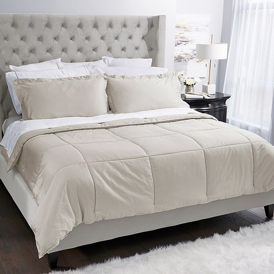Photo of Covermade Patented Easy Bedmaking Down Alternative King Comforter In Natural