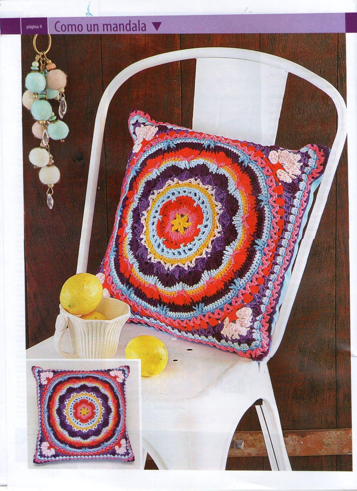 Resultado de imagen para cojines a crochet mandala