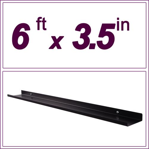 """36in ultraLEDGE Stainless Steel Over-the-Range Shelf Spice Rack 5/"""" deep"""