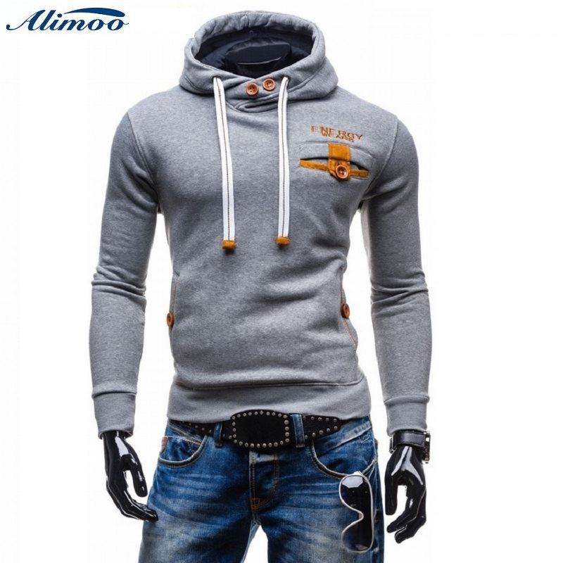Click to Buy    Alimoo Men Cotton Hoodies Sudaderas Hombre Double Pocket  Long 1eac9d46ce8
