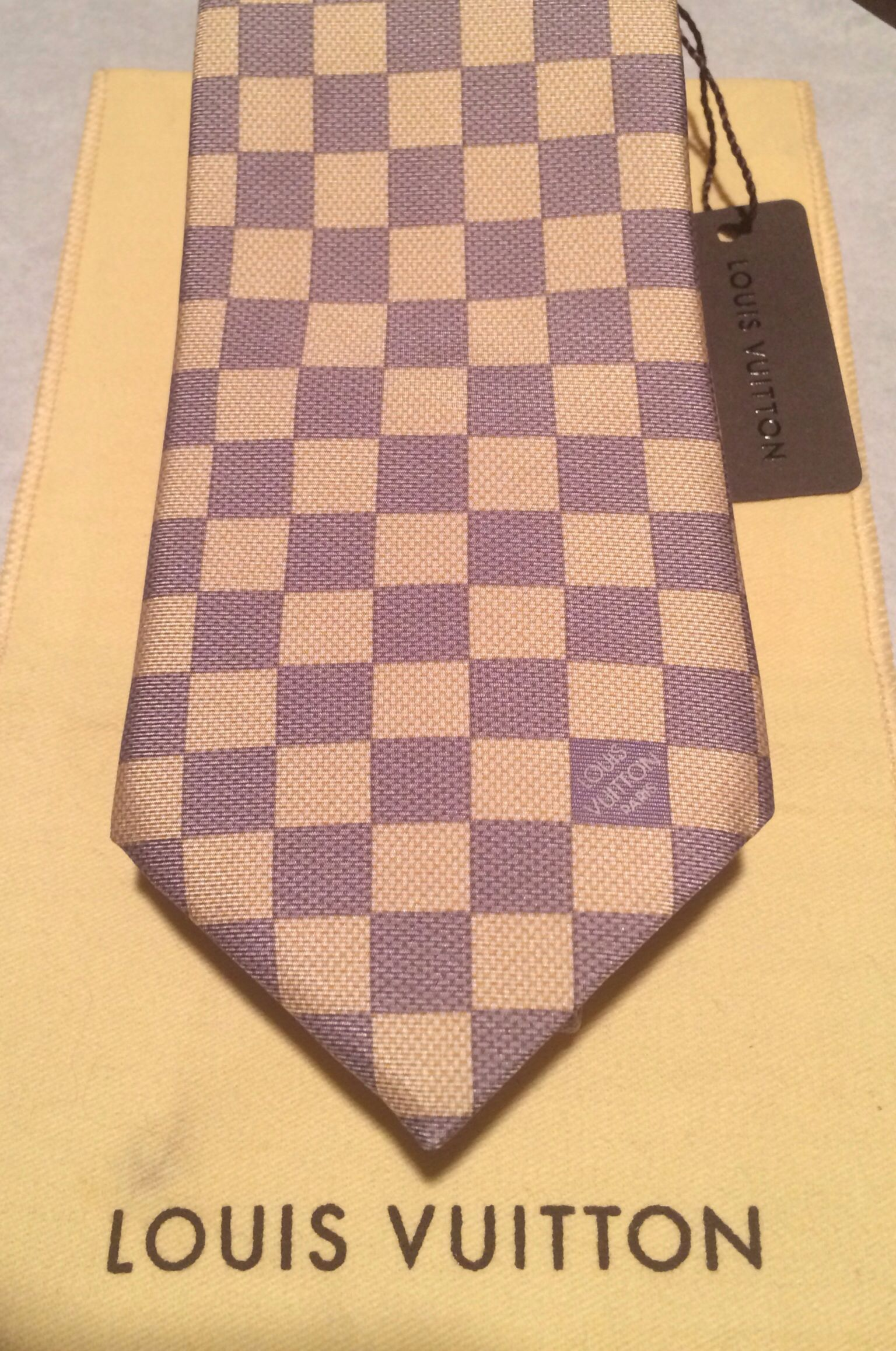 Louis Vuitton TAN DAMIER Tie