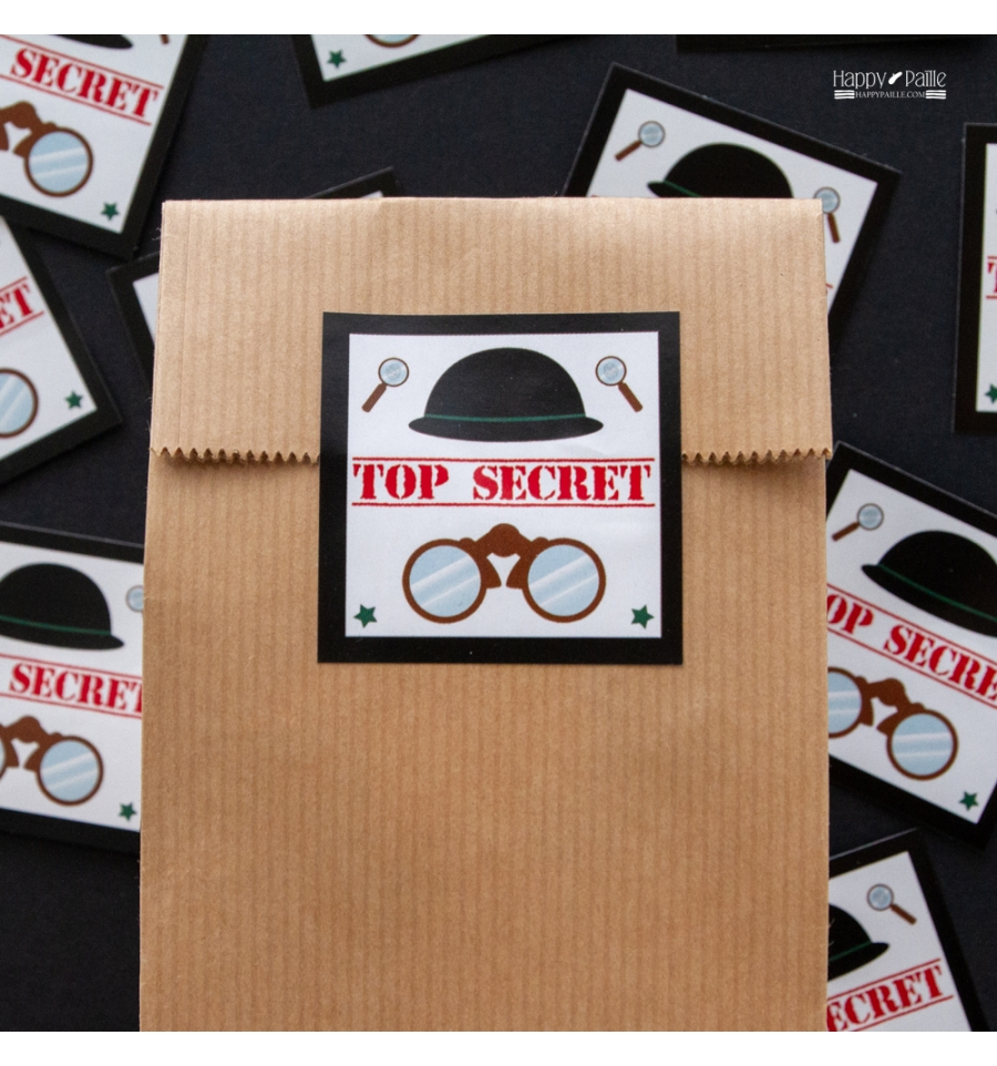 Extraordinaire Stickers TOP SECRET - Anniversaire agent secret - Anniversaire FK-07