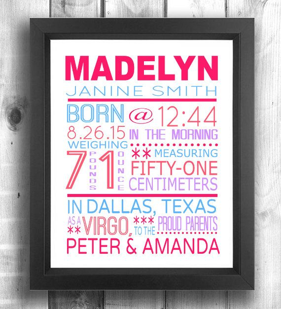 Check out this item in my etsy shop httpsetsyca items similar to baby girl birth stats print baby boy birth stats print new baby birth announcement personalized baby gift personalized baby shower gift negle Images