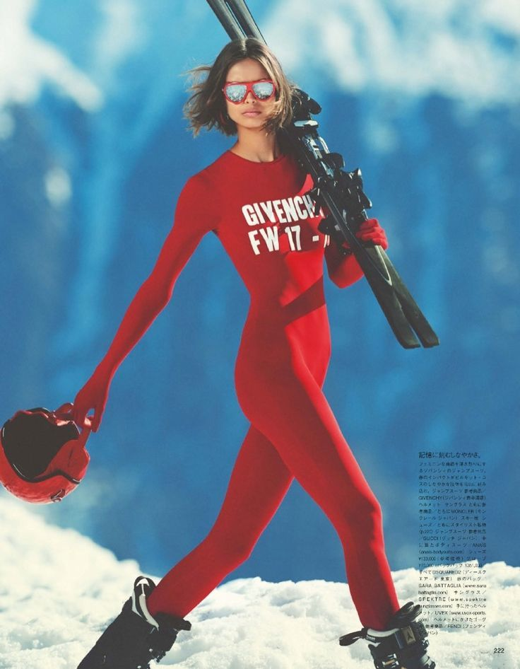 Birgit Kos Models Ski Fashion for Vogue Japan | Mode ...