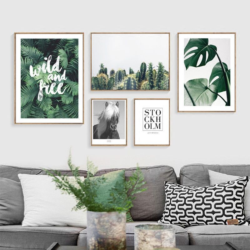 Photo of US $9.5  Nordic Cactus Decoration Plants Leaf Posters And Prints Cactus Decor Wall Art Canvas Painting Poster Cuadros painting poster posters and printscanvas painting – AliExpress