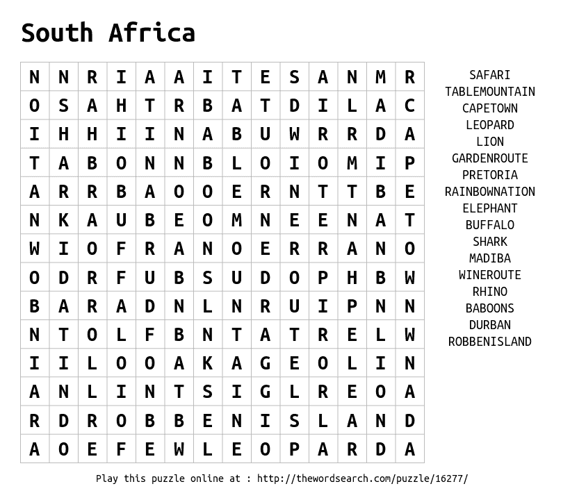 Nonmetals word search puzzle.