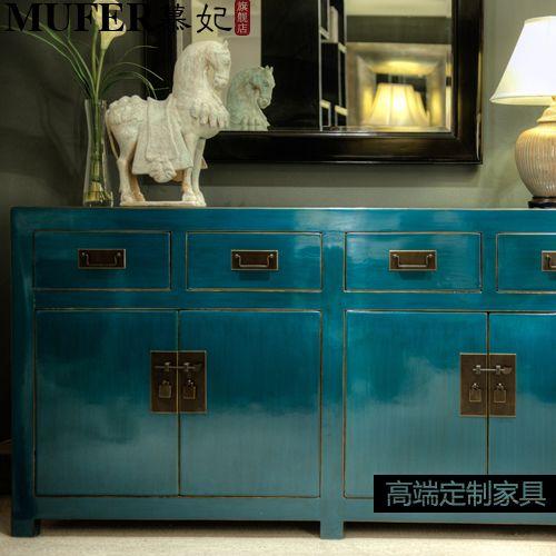 Custom Modern New Chinese Classical Furniture Minimalist Living Room TV Cabinet Drawer Storage Cabinets Wood Corner