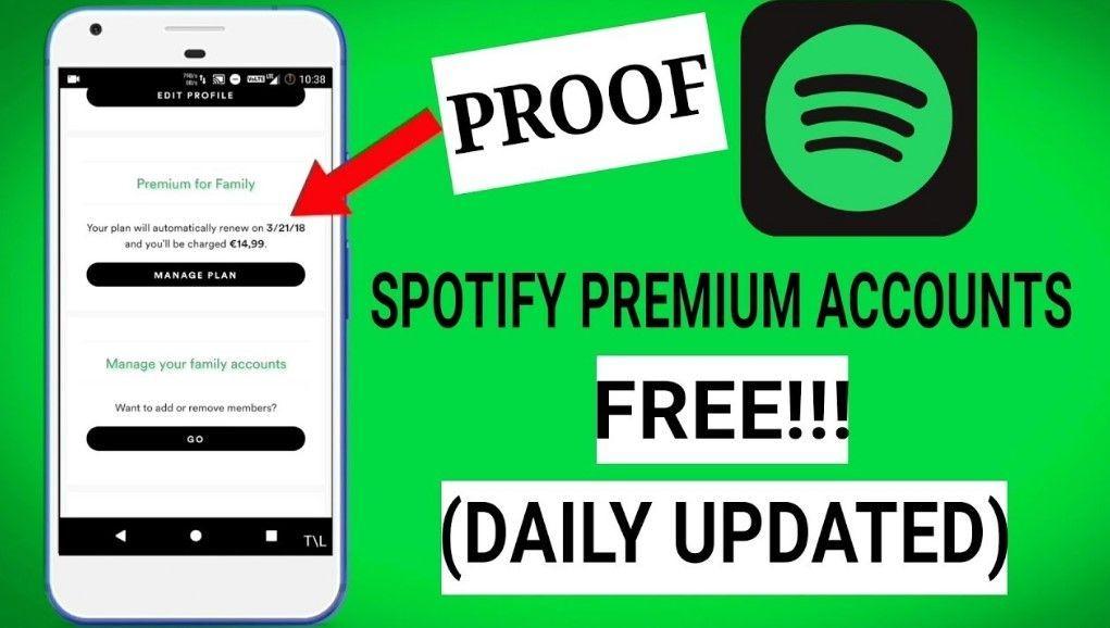 free spotify premium account username and password