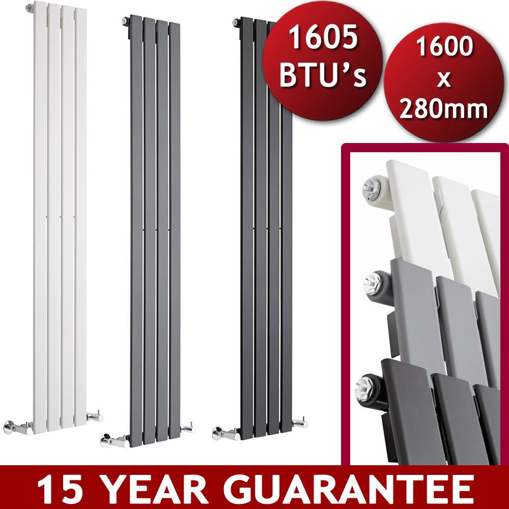 Vertical Central Heating Flat Panel Designer Radiators Tall Upright ...