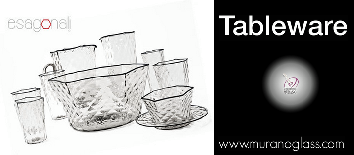 Treat your guests with a #muranoglass hexagonal collection!