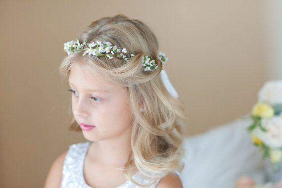 Garland Flower Wreath Crown Halo Headband Child Flower Girl First Communion Veil