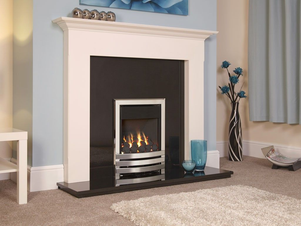 Flavel Linear Plus Silver Coal Bed Gas Fire Fkpcu0mn Gas Fires