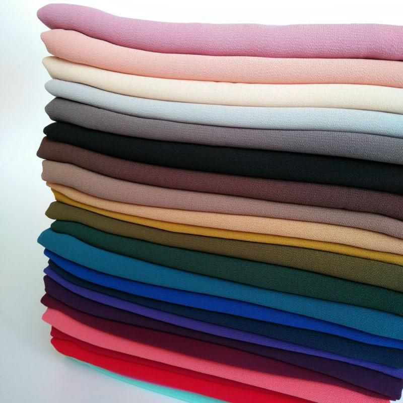 High Quality Plain Chiffon Maxi Long Big Soft Scarf Hijab Shawl Muslim 50 color