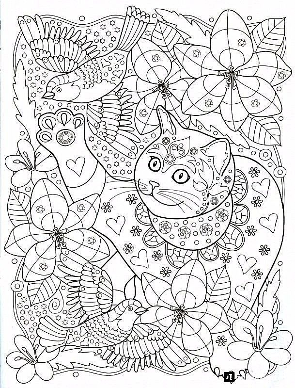 Cat colouring page | Dibujo | Pinterest | Mandalas, Imprimibles y ...